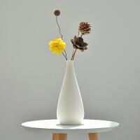 装饰摆件客厅插花小清新简约现代白色陶瓷花瓶北欧风格家居日用家装软饰