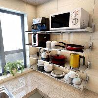 厨房置物架 壁挂 304不锈钢调料架厨房收纳架微波炉架子 长110 单层