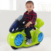 宝宝可坐三轮童车带灯光音乐小孩电瓶车玩具男女孩儿童电动摩托车