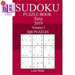 【中商海外直订】300 Easy Sudoku Puzzle Book 2019