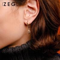 2019年新款潮耳饰女士个性气质耳钉不对称耳坠钥匙耳环