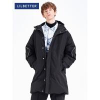 2.5折价:351;Lilbetter冬季羽绒服男2019新款保暖加厚防寒外套连帽男士羽绒衣