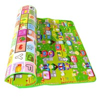 环保宝宝爬行垫加厚爬爬垫防潮泡沫地垫婴儿童小孩游戏毯家用客厅 0.6厘米 网格 单面 图案随机
