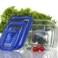 耐热玻璃保鲜盒大号带盖密封碗冰箱储存收纳微波炉专用饭盒