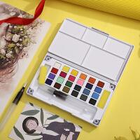 固体水彩颜料套装12色/18色/24色/36色绘画套装水粉颜料精品盒装
