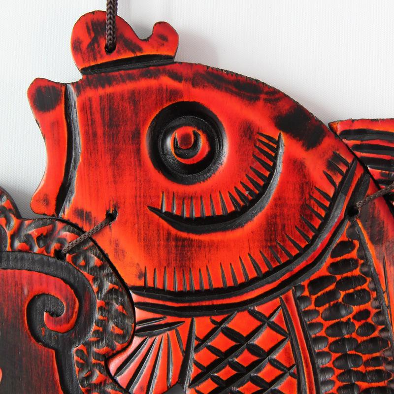 福临门壁饰客厅中式创意墙面装饰品木质立体挂饰玄关墙饰墙壁挂件 图片色