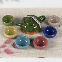 七彩冰裂茶具套装陶瓷茶壶茶杯商务礼品定做LOGO 七彩冰裂一套