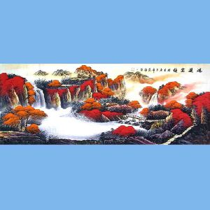 国家一级美术师,中国书画家协会会员,中国山水画研究院研究员范海(鸿运当头)