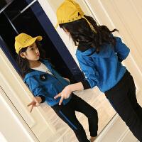 女童秋装套装2018新款韩版10女中大童12岁洋气运动两件套潮衣