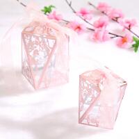 结婚欧式喜糖盒子装烟透明创意婚礼用品红色塑料盒