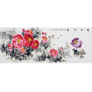 中国美协会员,中国书协会员,龙云书画院院长侯桂峰(牡丹一)30