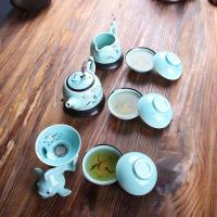 尚帝 手工绘青瓷茶具礼盒装 茶具套装2015-XM015DYPG