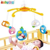 澳贝喜气羊羊床铃初生婴儿羊年礼物宝宝礼盒装床头音乐玩具0-1岁 多功能旋转音乐床铃