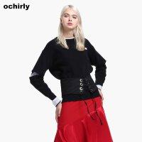 [9月12日3件7折到手价:70元]ochirly欧时力新女装宽松破洞假两件俏皮长袖针织衫1JZ3039350