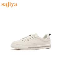 SAFIYA/索菲娅休闲板鞋舒适低跟系带小白鞋女SF03112017