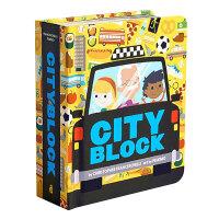 Cityblock 城市书 英文原版 3-6岁儿童英语启蒙学前兴趣认知亲子 纸板书