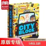 【预订】【Block】Cityblock 城市书 英文原版 3-6岁儿童英语启蒙学前兴趣认知亲子