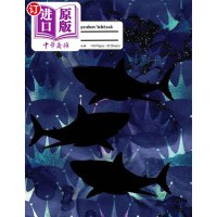 【中商海外直订】Shark Composition Notebook: Dark Blue Galaxy Compos
