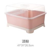 带盖沥水碗架装碗筷收纳盒餐具碗碟架放碗架厨房碗柜置物架