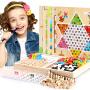 多功能木制棋类五子棋象棋儿童跳棋蛇棋飞行棋桌面游戏棋益智玩具