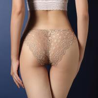 情趣内衣内裤女士性感蕾丝内裤网纱透明无痕提臂低腰三角裤