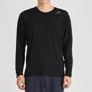adidas阿迪达斯男子长袖T恤跑步训练套头运动服CE0898