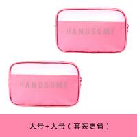 便携小号化妆品包袋韩国透明大容量简约女手拿随身旅行收纳洗漱包
