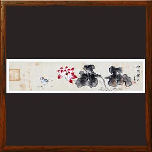 《神闲意定》R5227 安宁 花鸟横幅手绘画