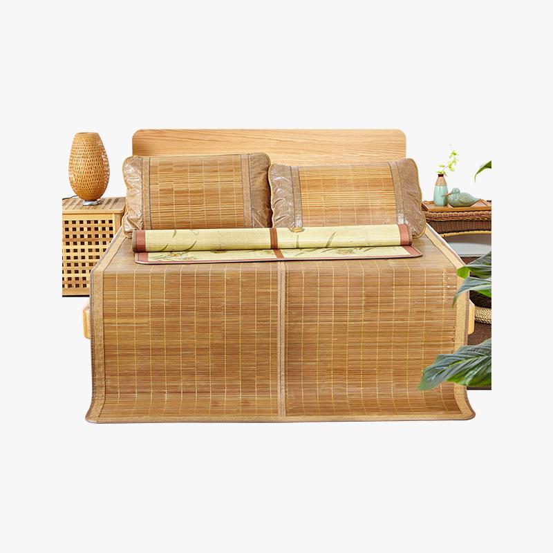 当当优品家纺 天然竹席 可折叠碳化镜面夏凉席 1.2-1.8米床 多尺寸可选当当自营 头层竹青 细腻光滑无毛刺 透气排汗 凉而不冰