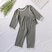 儿童睡衣莫代尔夏季薄款冰丝男童宝宝女童家居服小童空调服棉绸女