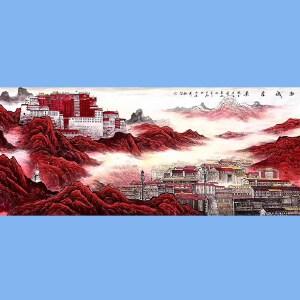 长城画派第一人,国家一级美术师,中美协会员王大为真迹原创(西域圣境)