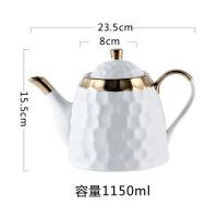 骨瓷咖啡杯碟简约家用欧式小金边下午茶茶具套装陶瓷 7件
