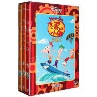 包邮正版 迪士尼DISNEY动画《飞哥与小佛套装(三) 》3DVD 合集三