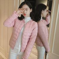 棉衣女短款冬季外套女装2019韩版修身 M 建议80-95斤