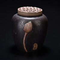 哥窑粗陶紫砂茶叶罐陶瓷小茶罐茶叶盒茶叶包装盒功夫茶具储存罐