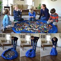 儿童玩具快速收纳袋玩具垫游戏毯乐高积木超大号整理束口袋野餐垫