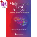 【中商海外直订】Multilingual Text Analysis: Challenges, Models, and