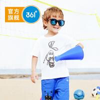 【下单立减】361度童装 男女小童T恤图案款2019夏季新品儿童短袖上衣TN51924203
