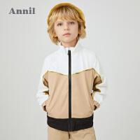 【活动价:238】安奈儿童装男童外套春秋2020新款中大童学生洋气运动开衫防风防水