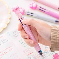 【领券立减30元】创意可爱卡通多色圆珠笔韩国ins多功能按动彩色个性油笔潮流文具6色笔手账笔