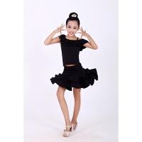 儿童拉丁舞演出服夏季舞蹈比赛考级服女拉丁舞裙少儿练功服表演服