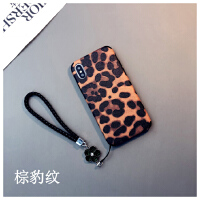 蚕丝豹纹款iphone6s plus手机壳苹果8情侣7个性日韩Xs max潮牌R女 苹果/ 棕豹纹