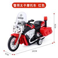 儿童男孩合金玩具车摩托车车模型回力车灯光音乐3-6岁礼物