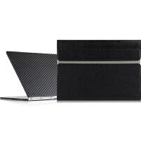 联想YOGA BOOK保护套10.1英寸电脑包YB-X90F/X91平板笔记本内胆包皮套 黑色【头层 牛皮】 10寸