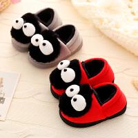女宝宝棉拖鞋包跟冬1-3岁幼儿5室内fang滑保暖加绒儿童毛毛拖鞋男童