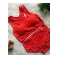 12岁大童女孩本命年抹胸14中学生15少女发育期红色内衣裤文胸套装