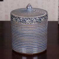 景德镇茶具茶叶罐陶瓷储物罐大码存储密封罐普洱装七子饼茶缸家用 图片色