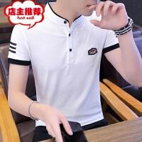 男士短袖T恤夏季新款修身时尚polo保罗衫立领青年2019年薄款半袖