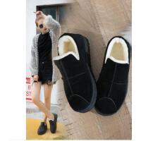 棉鞋女冬季懒人短靴保暖女鞋百搭潮款雪地靴韩版百搭加绒低帮鞋