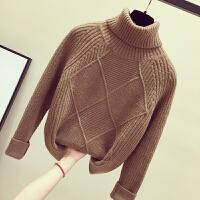 加厚高领毛衣女冬季2018新款韩版宽松长袖套头保暖打底毛线衫上衣 均码